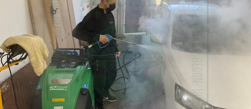 Czyścimy i dezynfekujemy auta gorącą parą, która w 135 stopniach zabija wszelkie bakterie, wirusy i grzyby! Automex, Dobry Warsztat w Pruszczu Gdańskim, Krótka 13, www.automex.auto.pl
